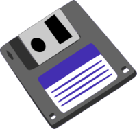 Floppy disk illustration